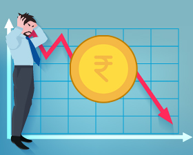 Rupee sliding to new record lows, recovery in domestic gold